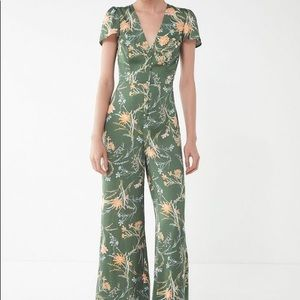urban outfitters emerald silk jumpsuit